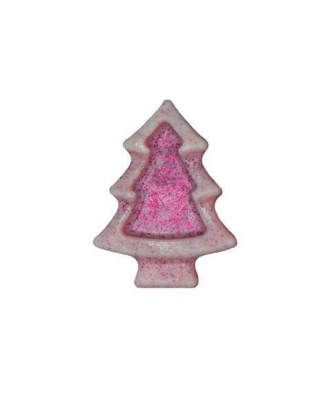 Ροζ Χριστουγεννιάτικο Σαπουνάκι Σε Σχήμα Έλατο – 25gr